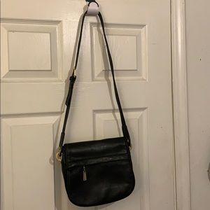 Jeanne Benet black cross body bag